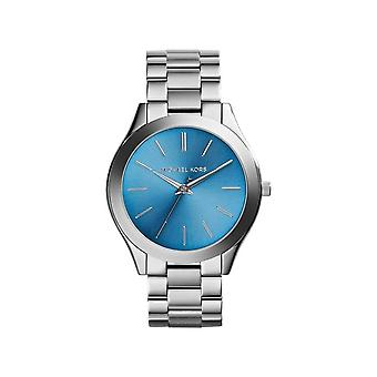 Michael Kors MK3292 Bracelet en acier inoxydable à cadran bleu Montre dames
