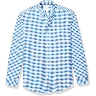 أساسيات الرجال & apos;ق العادية تناسب طويلة الأكمام الصلبة جيب قميص أكسفورد, Wh ...