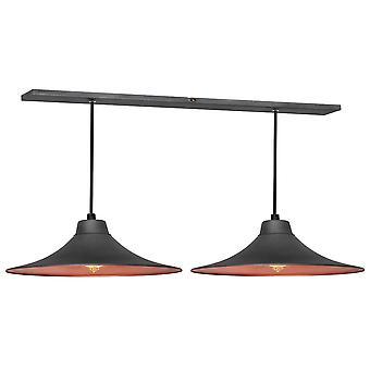 Lampe pendentif gris gris gris foncé 56x25x70 cm