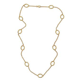 """RACHEL GALLEY Station Ketting Vrouwen 14ct Gold Plated Sterling Silver Size 24"""""""