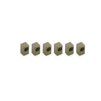 Floyd Rose String Lock Inset Block, Titanium (set Of 6)