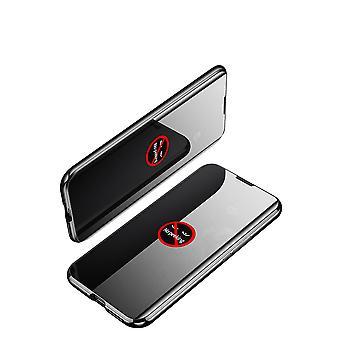 Mobilt etui i dobbeltsidet hærdet glas til Samsung S20 Ultra - sort