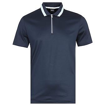 Boss Paras Short Sleeve Navy Polo Shirt
