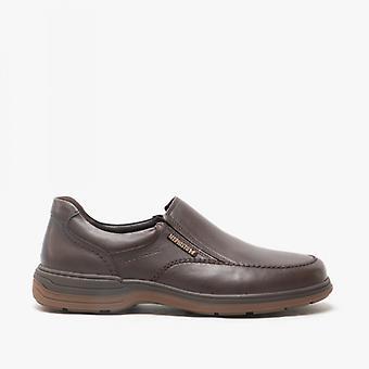 Mephisto Davy Riko Mens Leather Slip On Shoes Dark Brown