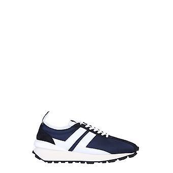 Lanvin Fmskbrucdraga202900 Män's Blue Polyester Sneakers