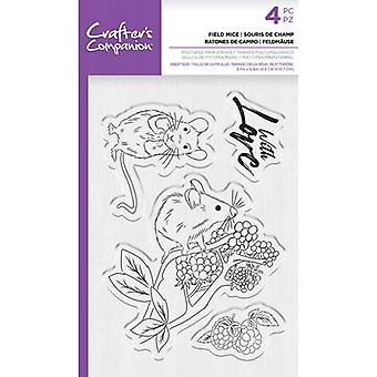 Crafter's Companion Clear Stamps - Ratos de Campo