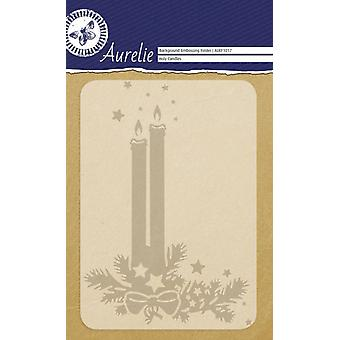 Aurelie Holy Candles Background Embossing Folder