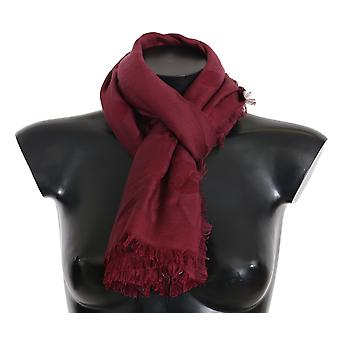 Dolce & Gabbana Bordeaux Necktie Wrap Shawl Silk Wool 140cmX140cm Solid -- MS21704496