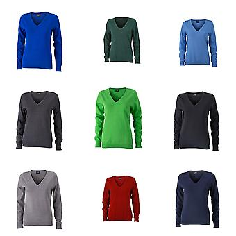 James and Nicholson Womens/Ladies v-Neck Pullover