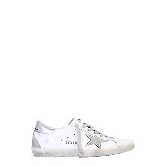 Golden Goose Gmf00102f00031710273 Hombres's zapatillas de cuero blanco
