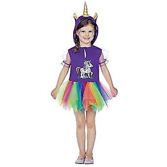 Unicorn Rainbow Kids Fairy Tale Horse Costume Colorful Dresses