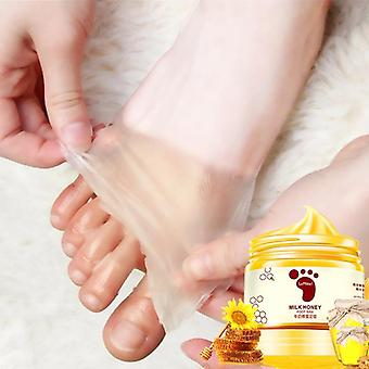 Honey Milk Foot Wax Hydraturizing Hydrating Nourrissant soins de la peau blanchissante, Peel