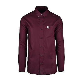 Fred Perry Oxford Shirt Mahogany