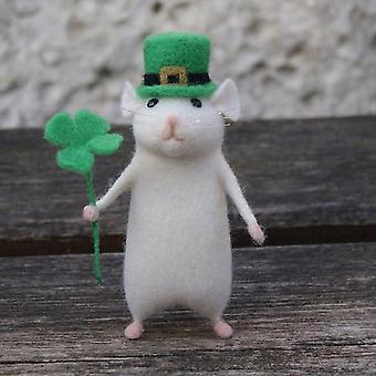 Lovely Mice Mouse Handmade Animal Toy Doll Wool Needle Felt Poked Kitting Kits