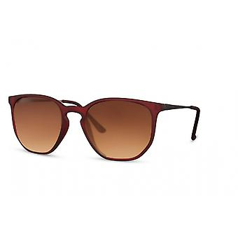 Solbriller Unisex panto fuldkantet kat. 2 brun/brun