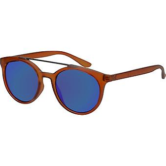 Sunglasses Unisex with mirror edher light brown (AZ-17-103)