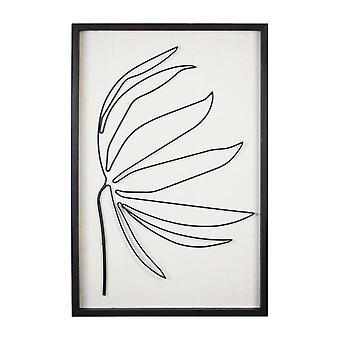 Leafy Stem Wall Art with Matthe Black Finish