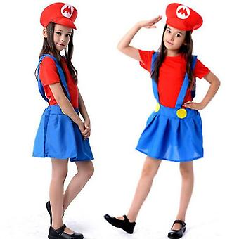 Super Mario Bros Girls Cosplay Fancy Dress Outfit Costume