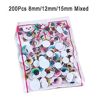 100kpl / 200kpl Itseliimautuva Googly Wiggle Eyes Diy Leikevaraus käsityöt