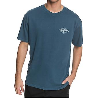 Quiksilver Harmony Hall Korte Sleeve T-shirt in Majolica Blue