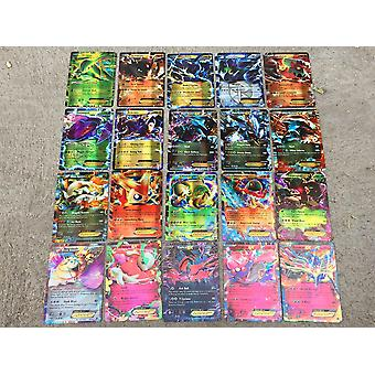 100pcs Pokemon Card Mega Flash Card Ex Game Collection Cards Gifts For Children (100pcs)