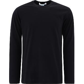 Comme Des Garçons Shirt W28115 Men's Black Cotton Sweater