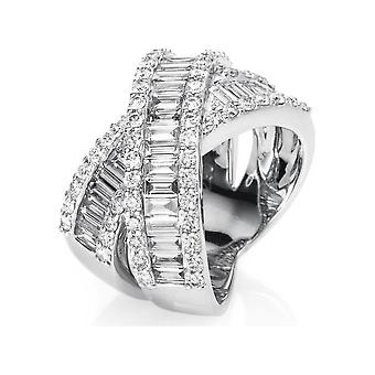 Anel de Anel de Diamante - 18K 750/- Ouro Branco - 2,76 ct. - 1D146W853 - Largura do anel: 53