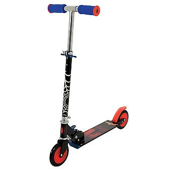 Marvel Spiderman Folding In Line Scooter Mini Scooter MV Sports Ages 5 Years+