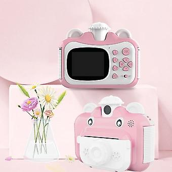 Mini Digital Cute Camera For Kids Baby Children's Toys Photo Instant Print Camera Birthday Gift For Girls Boys
