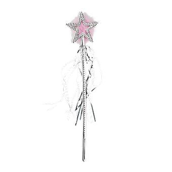 Silver Star Wand Fairy Tale Princess Fancy Dress Costume Accessory