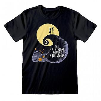 Nightmare Before Christmas Unisex Adult Silhouette T-Shirt