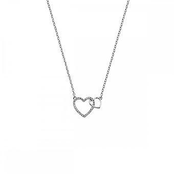 Hot diamanter Sterling sølv fellesskap åpne hjertet anheng DP731