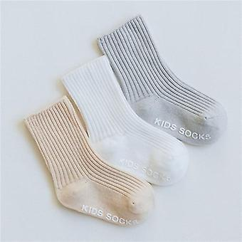 Children's Socks Solid Striped, Summer, Spring, Anti Slip, Boys