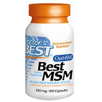 أفضل الأطباء OptiMSM أفضل، 1000 ملغ، 180 قبعات