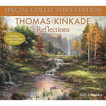 Thomas Kinkade Special Collectors Edition 2021 Deluxe Wall Calendar  Reflections by Thomas Kinkade