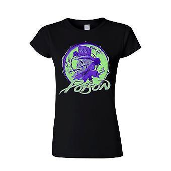 Poison Smoking Skull (lady) T-Shirt, Women