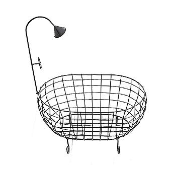 Baby Bathtub Photography Prop Rustproof, Nouveau-né Iron Basket Sofa Hollowed, Out