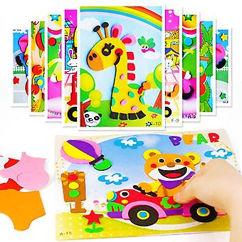 3d Eva Foam Sticker, Puzzle Game -cartoon Animal Learning Education