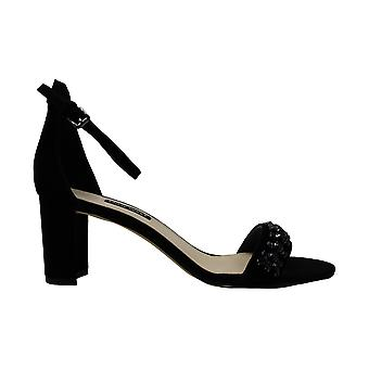 Nine West Womens Perla Suede Peep Toe Casual Ankle Strap Sandals