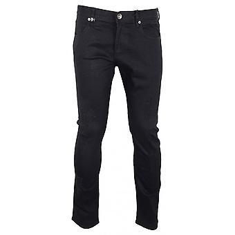 ARMANI EXCHANGE Cotton Slim Fit Black Distressed Jeans