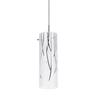 Pendente moderno Cromo 1 Luz com Sombra Fosca, E14