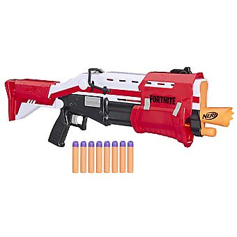 Nerf fortnite ts blaster -- pump action dart blaster, 8 official nerf mega fortnite darts, dart stor
