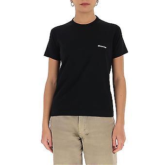 Balenciaga 612964tjv871070 Damen's schwarze Baumwolle T-shirt