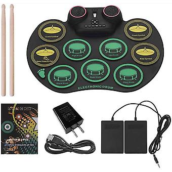 Wersi Bluetooth Hand Roll Drum Portable Practice Drum Pad Support Computer Dtx Game Drum