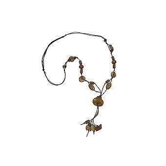 Collana Perline Seta-oliva-verde
