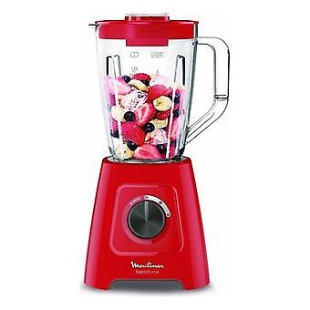Glass mixer Moulinex LM4205 1.25 L 600W Red
