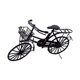 Dolls House Miniature Outdoor Accessory Shopping Bike With Basket & Luggage Rack
