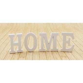Dolls House White Home Letters Moderno Acessório de Ornamento em Miniatura