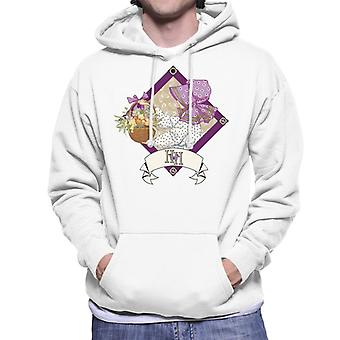 Holly Hobbie With A Basket Of Fruit And Flowers Men's Hooded Sweatshirt