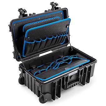 B&W JUMBO 6600 Verktygslåda POCKETS 2 Rullar med gasfjäder, svart